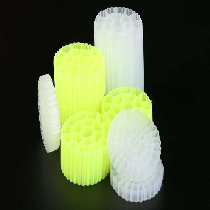 Virgin HDPE Material MBBR Filter Media Biofilter 25mm X12mm Size 500 m2/m3 Surface Area