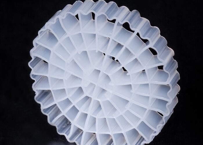 Virgin HDPE Material MBBR Bio Media K5 White Color With 25*4mm Size For IFAS equipment
